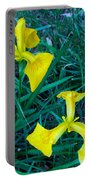 Yellow Flag Iris Portable Battery Charger