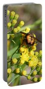 Yellow Flower Bee Portable Battery Charger
