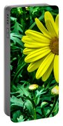 Yellow Flower Of Spring Portable Battery Charger