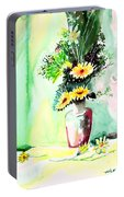 Yellow Flowers 1 Portable Battery Charger