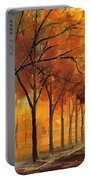 Yellow Fog - Palette Knife Oil Painting On Canvas By Leonid Afremov Portable Battery Charger