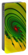 Yellow Fractal Portable Battery Charger