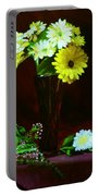 Yellow Gerbera Portable Battery Charger
