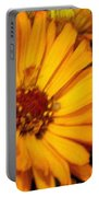 Yellow Gold Flowers Portable Battery Charger