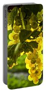 Yellow Grapes In Sunshine Portable Battery Charger