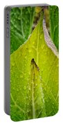 Yellow Green Skunk Cabbage Square Portable Battery Charger