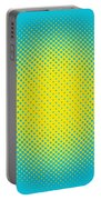 Optical Illusion - Yellow On Aqua Portable Battery Charger