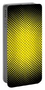 Optical Illusion - Yellow On Black Portable Battery Charger