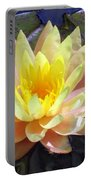 Yellow Hardy Water Lily Portable Battery Charger