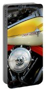 Yellow Harley Portable Battery Charger by Lainie Wrightson