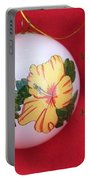 Yellow Hibiscus Christmas Bulb Portable Battery Charger