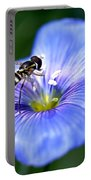 Blue Flax Flower Portable Battery Charger