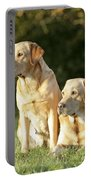 Yellow Labrador Retrievers Portable Battery Charger