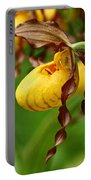 Yellow Lady Slipper Portable Battery Charger