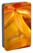 Yellow Leaves At Dawn Portable Battery Charger