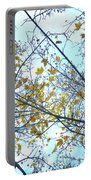 Yellow Leaves Vintage Portable Battery Charger