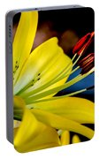 Yellow Lily Anthers Portable Battery Charger