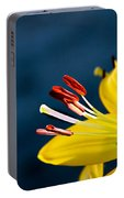 Yellow Lily Stamens Portable Battery Charger