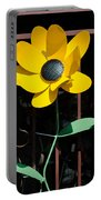 Yellow Metal Garden Flower Portable Battery Charger