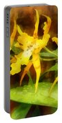 Yellow Miltassia Orchids Portable Battery Charger