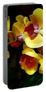 Yellow Orchids Shadow And Light Portable Battery Charger