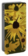 Yellow Paper Flower Portable Battery Charger