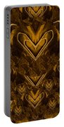Yellow Pop Art Hearts Portable Battery Charger