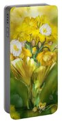 Yellow Poppies In Poppy Vase Portable Battery Charger