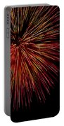 Yellow Red Firework Explosion Portable Battery Charger