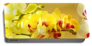 Yellow Red Orchid Flowers Art Prints Orchids Portable Battery Charger