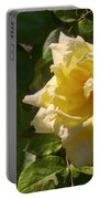 Yellow Rose And Bud Portable Battery Charger