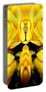 Yellow Roses Mirrored Effect Portable Battery Charger