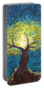 Yellow Squiggle Tree Portable Battery Charger