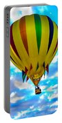 Yellow Striped Hot Air Balloon Portable Battery Charger