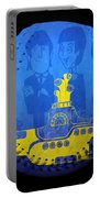 Yellow Submarine Baseball Square Portable Battery Charger