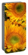 Yellow Sun Flower Burst Portable Battery Charger