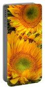 Yellow Sun Flower Burst Portable Battery Charger
