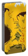 Yellow Sunflowers Portable Battery Charger