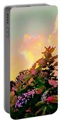 Yellow Sunrise And Flowers - Vertical Portable Battery Charger