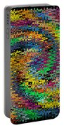 Orange Swirl Ripple Abstract Portable Battery Charger