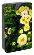 Yellow Tea Rose  Happy Mother's Day Portable Battery Charger