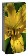 Yellow Too Lily Flower Art Portable Battery Charger