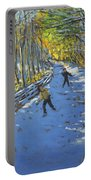 Yellow Trees  Allestree Park Portable Battery Charger by Andrew Macara