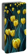 Yellow Tulip Field Portable Battery Charger