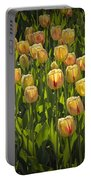 Yellow Tulip Flowers On Windmill Island In Holland Michigan Portable Battery Charger