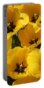 Golden Tulips In Full Bloom Portable Battery Charger