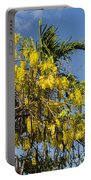 Yellow Wisteria Blooms Portable Battery Charger
