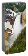 Yellowstone Falls In Spring Time Portable Battery Charger