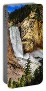Yellowstone Lower Falls Rainbow Portable Battery Charger