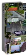Yesterday Barns Collage Portable Battery Charger